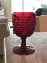 Vintage Ruby Red Hobnail Goblets in Fort Campbell, Kentucky