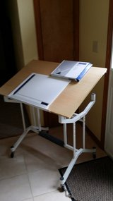Tilting drafting table with drafting board and drafting head in Fort Leonard Wood, Missouri