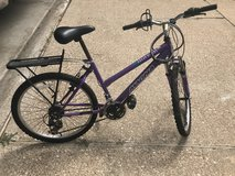 "Magna Purple 24"" Bike w/rack in Kingwood, Texas"
