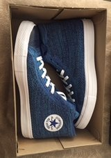 NEW in box-CONVERSE CHUCK TAYLOR ALL STAR X NEW- NIKE FLYKNIT HIGH TOP- size 12 in Pearland, Texas