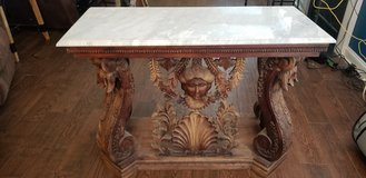 antique handcarved marble top table in Fort Campbell, Kentucky