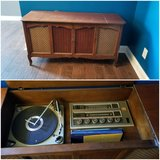 Antique Radio and record player in Fort Campbell, Kentucky