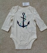 New w/tag Gap anchor onesie sz.3-6 months in Camp Lejeune, North Carolina
