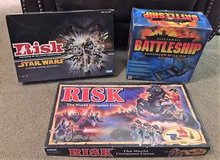 Board Games - Electronic Battleship, Star Wars Risk Clone Wars Ed., Risk World Conquest Game in Tomball, Texas