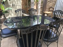 Kitchen Table and 6 chairs Solid Black Granite in Camp Pendleton, California