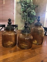 Glass jar container set in Bellaire, Texas