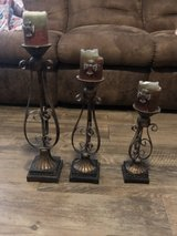 Large tall iron candle set in Bellaire, Texas