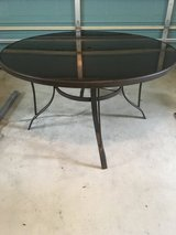 Round patio table in Okinawa, Japan