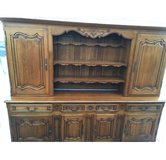 amazing solid oak  vintage french  hutch — plates display in Ramstein, Germany