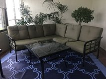 Patio furniture set: Sectional and coffee table- outdoor sofa couch in Okinawa, Japan