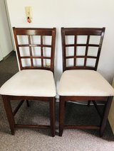 Tall chairs with solid wood frame in Chicago, Illinois