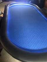 Blue poker table with lights! in Tinley Park, Illinois