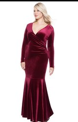 Plus size Formal Red Velvet Dress in Perry, Georgia
