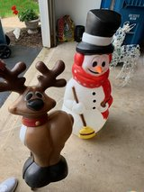 Vintage Blown Plastic Molds - Snowman and Reindeer in Chicago, Illinois