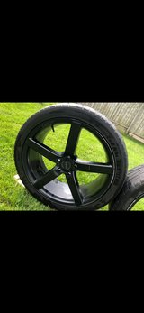 Size 22 rims.  5 bolts in Naperville, Illinois