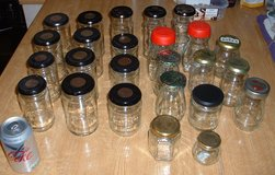 EMPTY GLASS JARS (WITH LIDS) in Lakenheath, UK