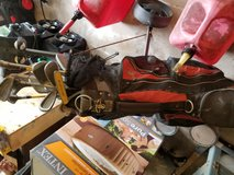 Misc Golf Clubs with rolling cart in Pasadena, Texas