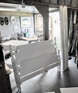 antique chalk painted queen size bed and rails in Cherry Point, North Carolina