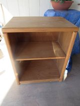 wood microwave stand has wheels in Alamogordo, New Mexico