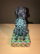 Jim Shore Black With Teal Designs Dog Statue in Kingwood, Texas