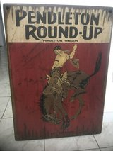 Pendleton Round-Up sign in Kingwood, Texas
