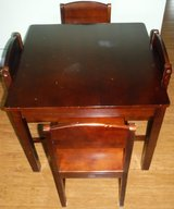 Kids Wood Table + 4 Chairs in Westmont, Illinois