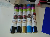 5 rolls Cricut Iron-On HTV, Heat Transfer Vinyl in Houston, Texas