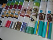 9 rolls Cricut Vinyl, Adhesive in Houston, Texas