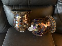 Partylite mosaic candle holders, home decor in Chicago, Illinois