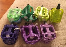 Green & Purple Bike Pedals in Naperville, Illinois
