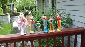 Oriental  Asian figurine display dolls 4 for $15 in Plainfield, Illinois