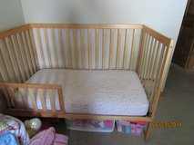 Crib/Toddler Bed with mattress in Westmont, Illinois