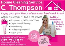 C Thompson weekly,bi-weekly,PCS,move in,1time a month,1time only cleaning Service in Ramstein, Germany