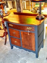 antique oak chest / circa 1880's chalk painted in Cherry Point, North Carolina