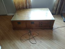 but wood coffe talbe,t.v. stand and end table in DeKalb, Illinois