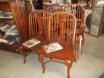 Set of Six Hard Wood Matching Dining Chairs in Fort Riley, Kansas