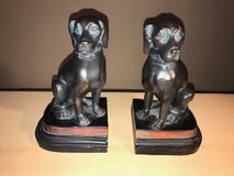 Tall Black Dog Book Ends in Kingwood, Texas