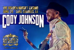 (1-2) CODY JOHNSON Concert Tickets - Friday, June 28 - Call Now! in Baytown, Texas