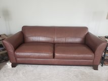 Leather sofa in Plainfield, Illinois