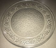 Vintage Princess House Crystal Fantasia Round Platter Sandwich or Cake Plate in Conroe, Texas
