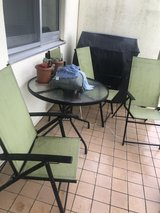 Patio furniture and grill in Okinawa, Japan