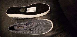 Striped slip on sneakers in Bolingbrook, Illinois