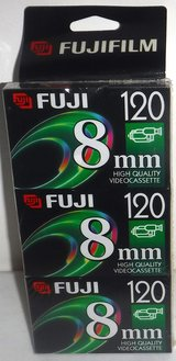 New! Fuji 8mm HQ Video Cassette Tapes ~ 3 Pack in Chicago, Illinois