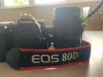 Canon EOS 80D DSLR Camera w/ accessories in Spangdahlem, Germany