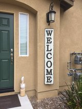 Rustic WELCOME sign in Camp Pendleton, California