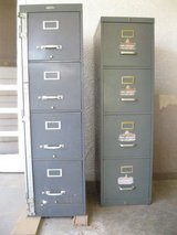 Two 4-drawer metal file cabinets in Alamogordo, New Mexico