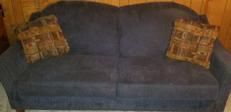 Blue courdory couch in bookoo, US