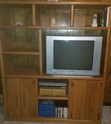 Solid oak entertainment center in bookoo, US