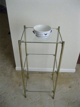 Metal Shelf with 3 plate glass shelves in Alamogordo, New Mexico