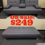 Brand New Grey Convertable Sofa Bed in Travis AFB, California
